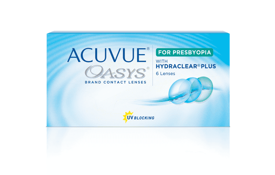 ACUVUE OASYS® for PRESBYOPIA with HYDRACLEAR® PLUS Technology